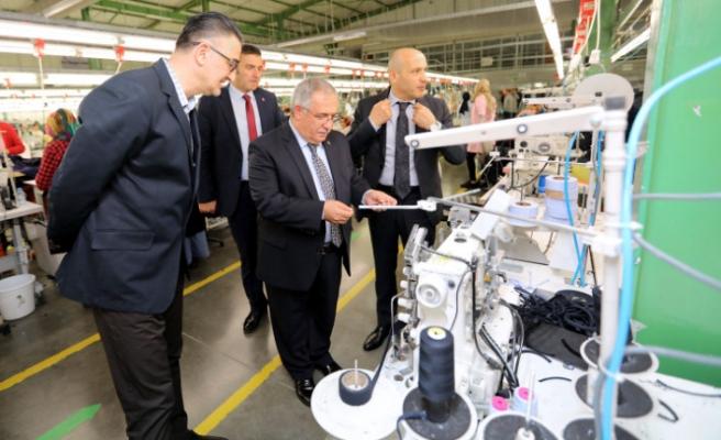 Vali Nayir Talu Tekstil Firmasını Ziyaret Etti