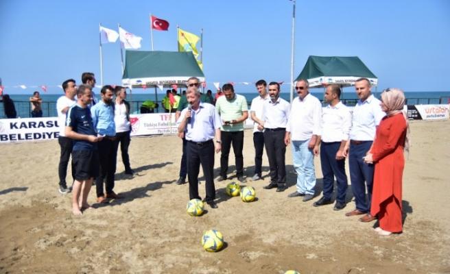 Plaj Futboluna Görkemli Açılış