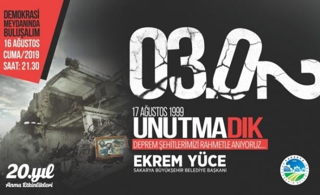 20. Yılında Asrın Depremini Anma Programı