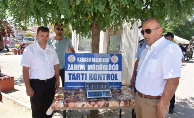 Karasu Belediyesi'nden Pazaryerine Tartı Kontrol Noktası