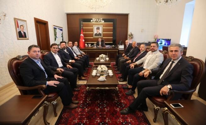 TÜMSİAD'ın yeni yönetiminden Vali Nayir'e ziyaret