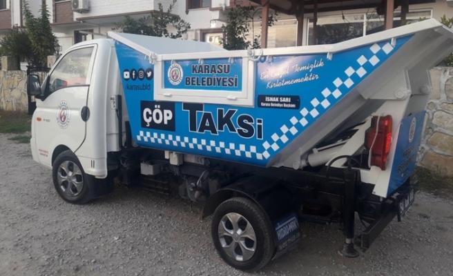Karasu Belediyesi 'Çöp Taksi' Uygulamasına Başladı