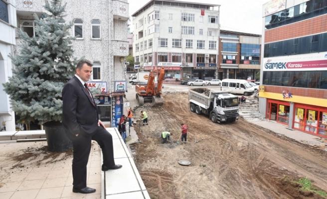 Yol ve çevre düzenleme çalışmaları hız kesmeden devam ediyor