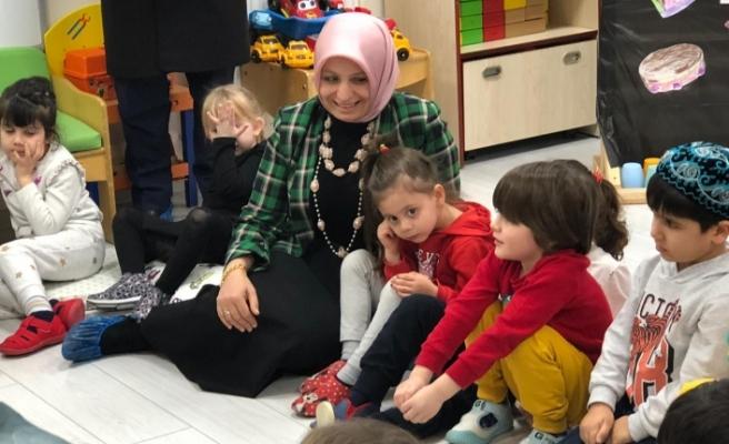 Çocukları sevindiren ziyaret