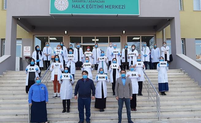 Adapazarı HEM öğretmenlerinden sağlık çalışanlarına destek