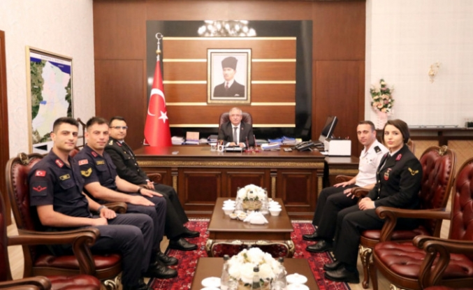 Vali Nayir 180. Yaşına Giren Jandarma Teşkilatı Mensuplarını Kabul Etti