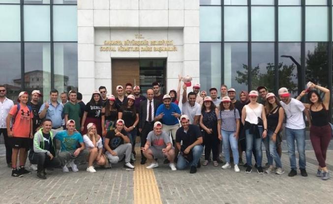 SGM ve Engelsiz Kafe erasmus öğrencilerini ağırladı