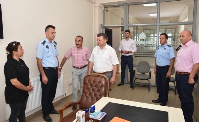 Başkan Sarı'dan Zabıta Müdürlüğüne Ziyaret