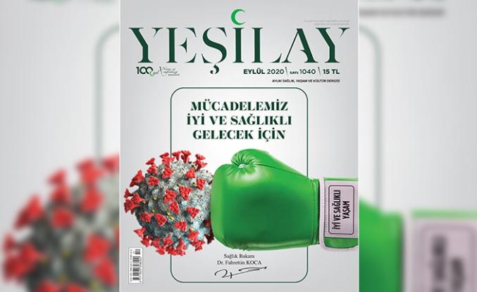 Yeşilay Dergisi'nin kapağında Sağlık Bakanı Dr. Fahrettin Koca imzası