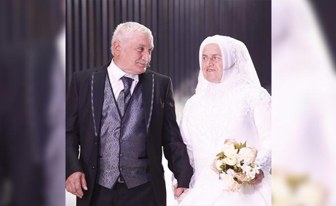 64 Yaşındaki Kadriye Teyze İlk Kez Gelinlik Giydi