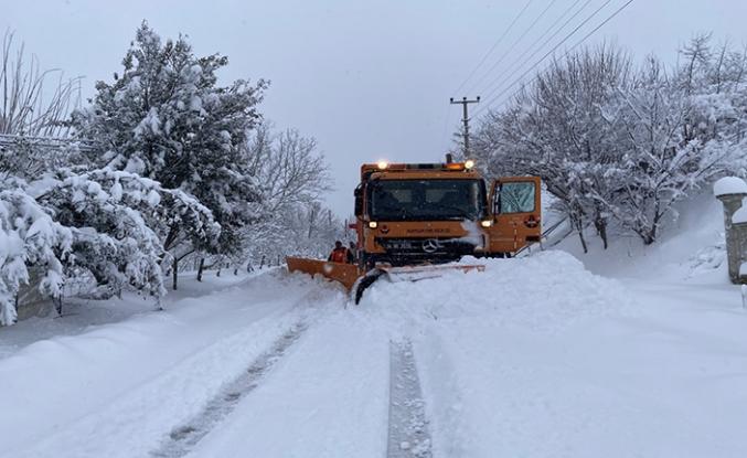 Kocaali'de karla mücadele başladı