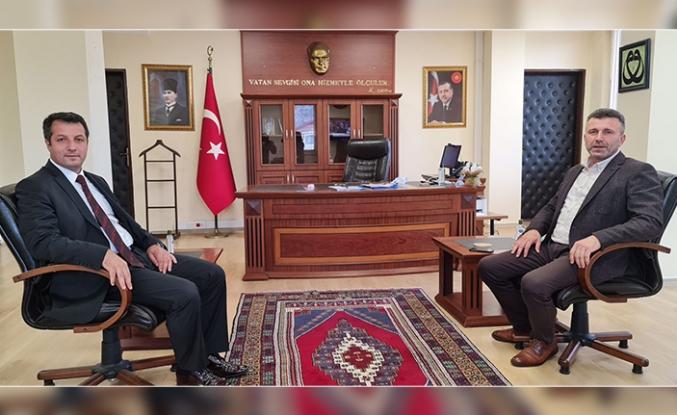 Başkan Özen'den, Kaymakam Canpolat'a Hayırlı Olsun Ziyareti